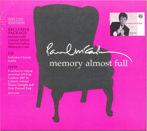 Paul McCartney - Memory Almost Full Deluxe Edition (CD-DVD-$5.00 Paul Starbucks Card)